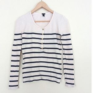J. Crew Nautical Striped Thermal Style Long Sleeve